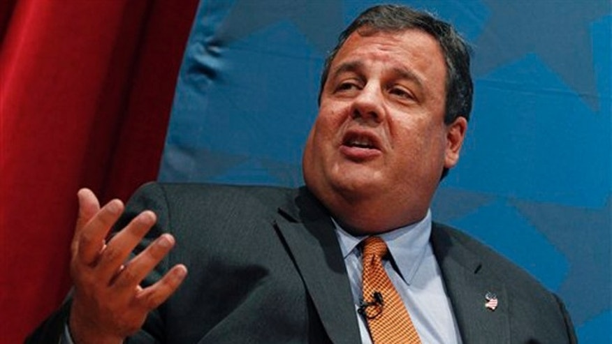 New Jersey Gov. Chris Christie answers a question at Rider University in Lawrenceville, N.J., Sept. 22.