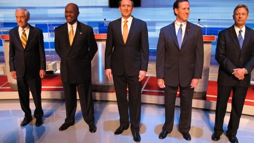 FILE: Republican presidential candidates faced off Sept. 22 in a presidential debate sponsored by Fox News and Google.