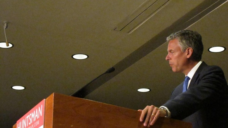 Jon Huntsman giving foreign policy speech at Southern New Hampshire University