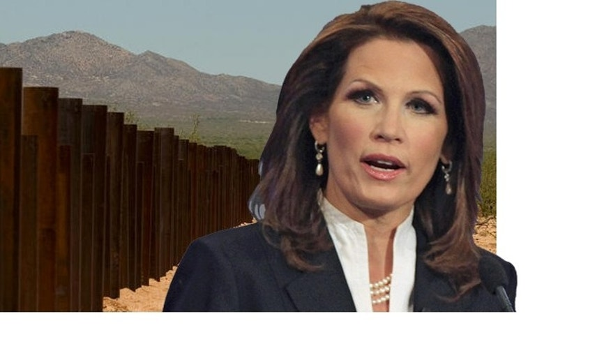 Minnesota Rep. Michele Bachmann increasingly is making immigration a central issue of her campaign to be the GOP nominee in the presidential election. She vows that if elected president, she will have a super-fence along the U.S.-Mexican border.