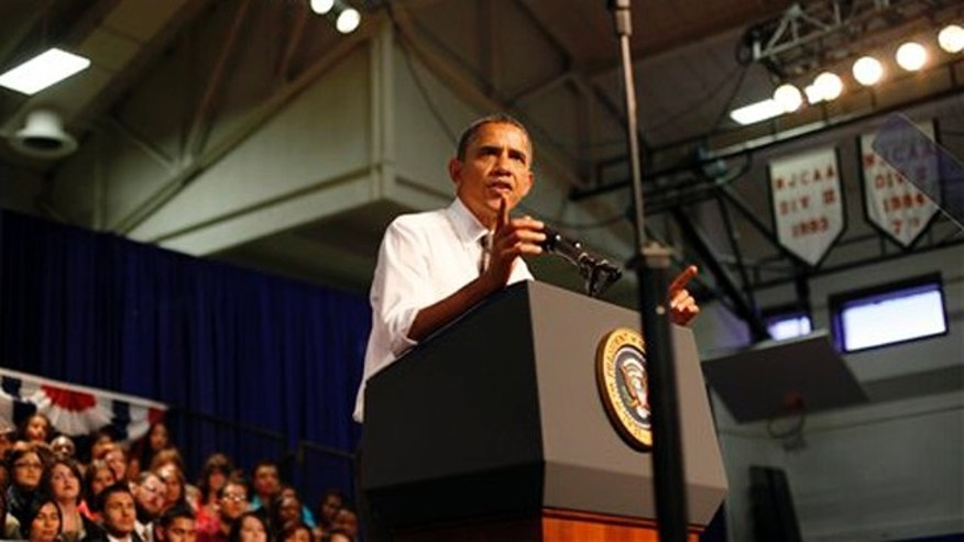 President Obama speaks to students at Eastfield College in Mesquite, Texas about the need for Congress to pass the American Jobs Act Oct. 4.