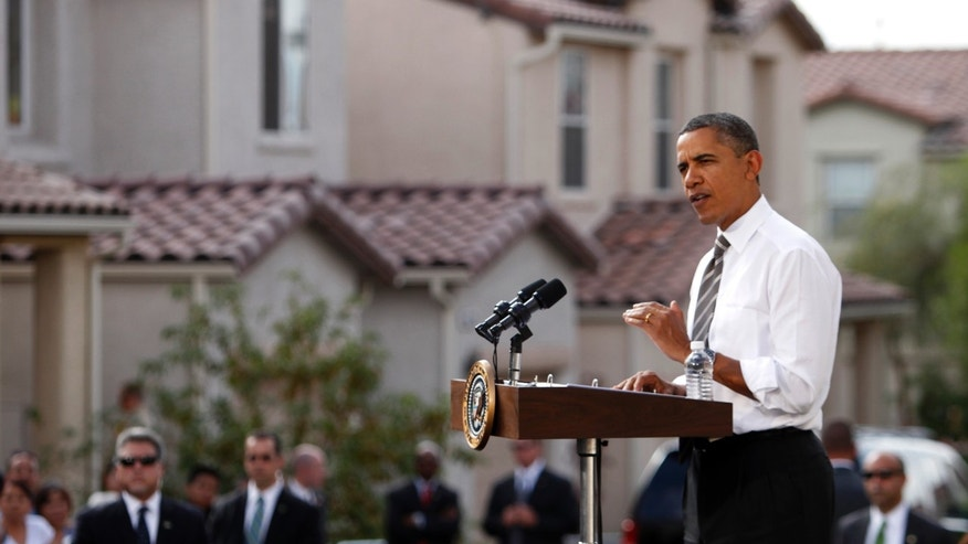 Obama, in Las Vegas, announced new rules to help homeowners with little or no equity in their home to refinance their mortgages to avoid foreclosures.