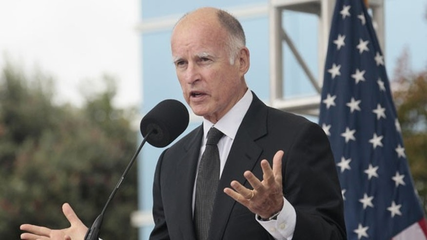 October 10, 2011: Gov. Jerry Brown speaks at SunEdison in Belmont, Calif.
