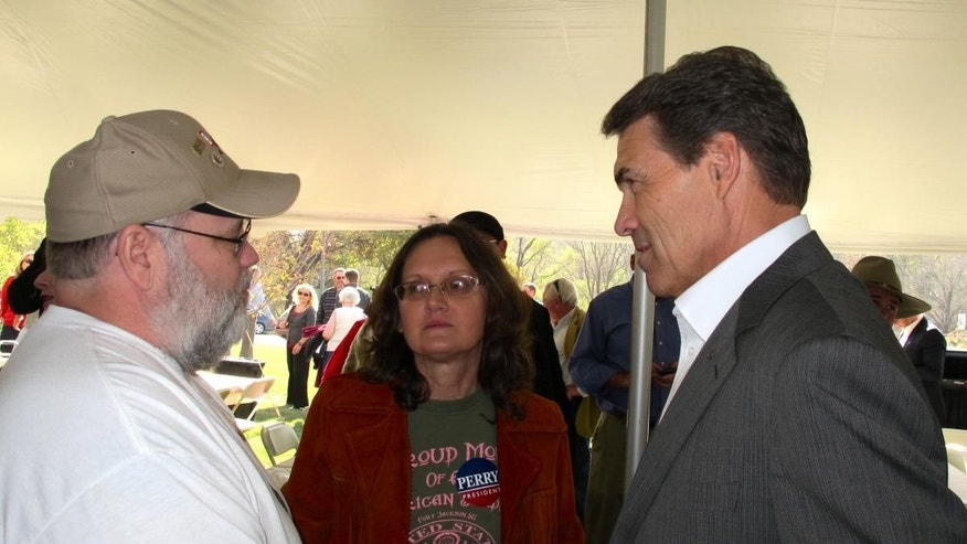 Rick Perry in Wilton, Iowa. (10.22 - Fox Photo)