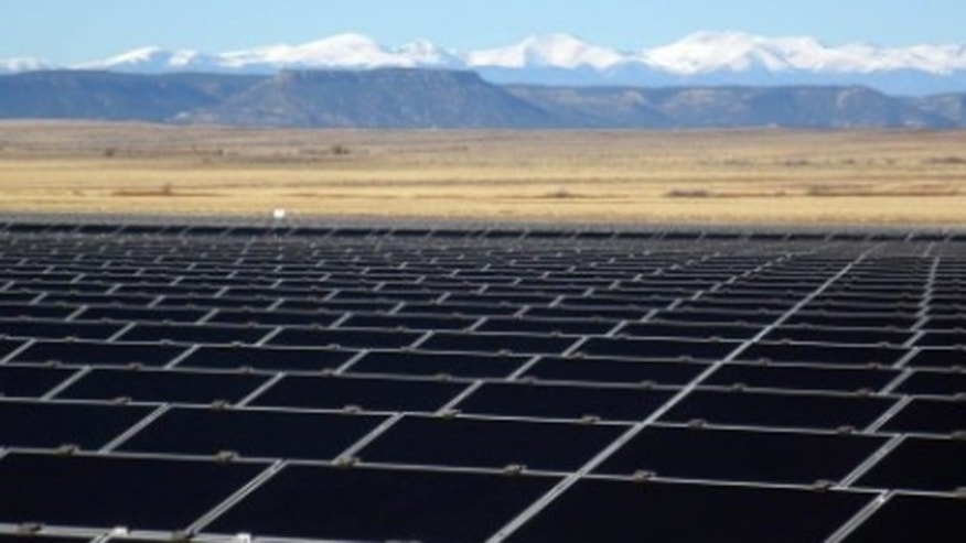 Shown here is the Desert Sunlight solar project in California.