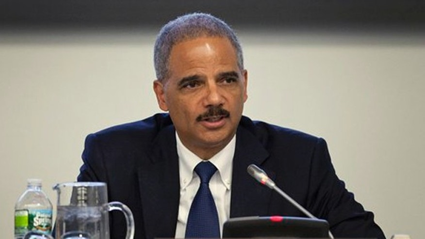 Attorney General Eric Holder speaks during a conference at the 66th session of the General Assembly at United Nations headquarters on Sept. 19.