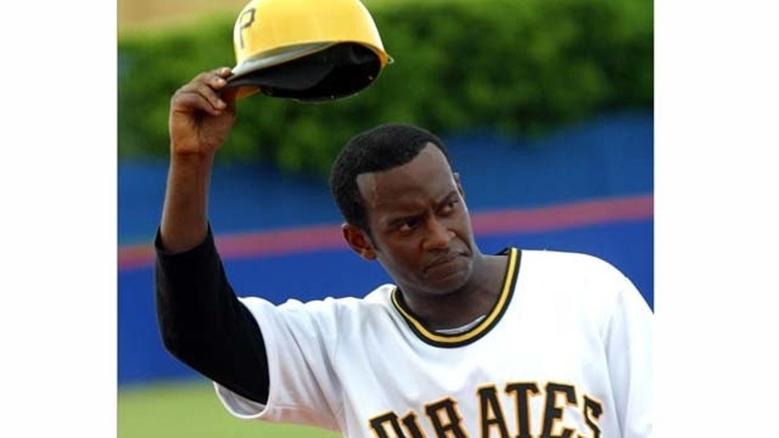 "Promotional photo of actor Modesto Lacen in the role of legendary baseball player Roberto Clemente in the musical ""DC-7"". EFE/M. Lacen"