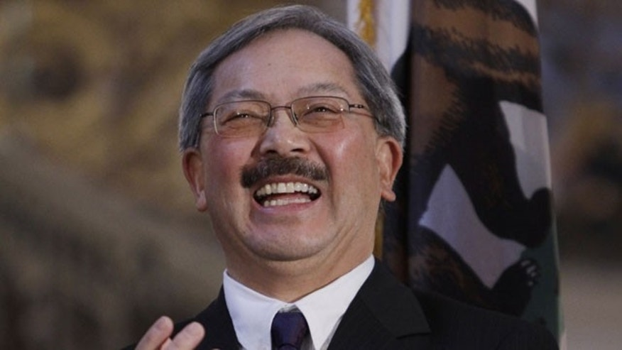 In this Jan. 11, 2011 file photo, Edwin Lee is seen after being named as interim mayor in San Francisco.