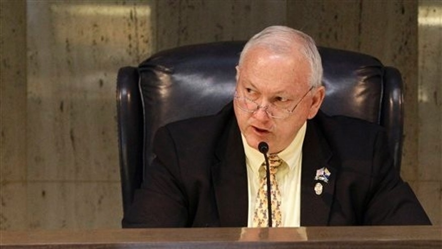 Apr 18: Arizona State Senate President Russell Pearce, R-Mesa, speaks at the Capitol in Phoenix. Arizona is entering unusual political territory with a scheduled recall election for Pearce, the nationally known champion of legislation and ballot measures against illegal immigration.