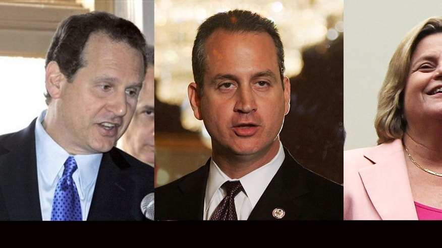 Left to Right: Former congressman Lincoln Diaz-Balart, U.S. Florida Representatives  Mario Diaz-Balart, and Ileana Ros-Lehtinen will endorse Mitt Romney today.