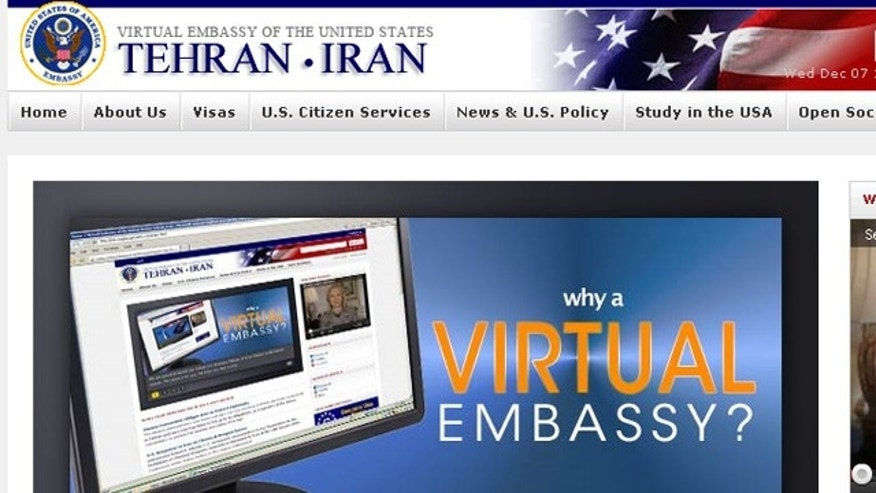 Shown here is the home page of the new 'virtual' U.S. embassy for Iran.