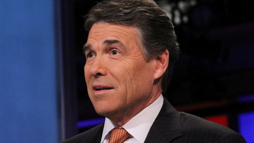"NEW YORK, NY - NOVEMBER 18:  Rick Perry visits ""Cavuto"" on FOX Business at FOX Studios on November 18, 2011 in New York City.  On Dec. 9, 2011, he mispronounced U.S. Supreme Court Justice Sonia Sotomayor's name, his latest gaffe during his presidential campaign. (Photo by Rob Kim/Getty Images)"