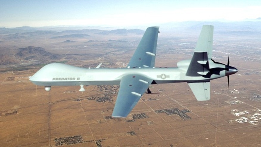 "Dec. 13, 2011: An MQ-9, seen here, also known by the military as ""Reaper,"" crashed in the Seychelles Airport, the Air Force confirmed."