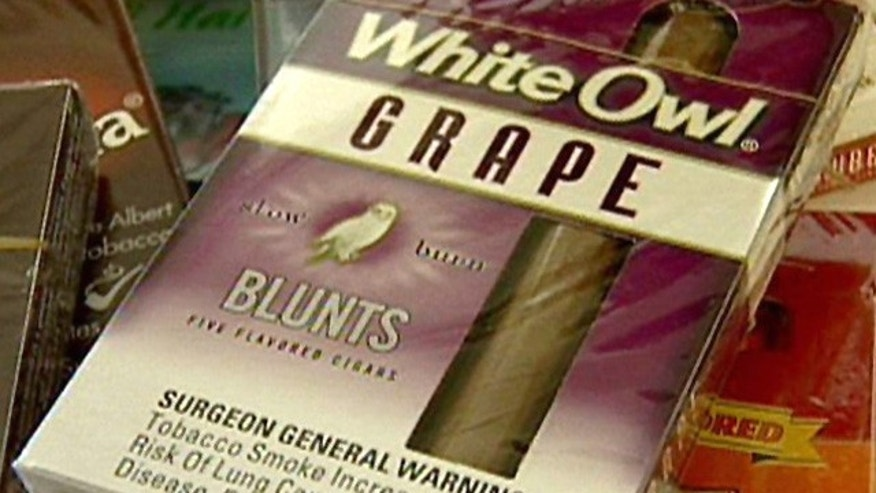 Shown here is a package of White Owl Grape flavored cigars.