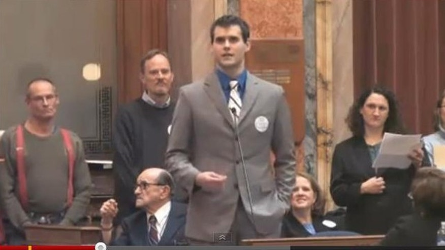 College student Zach Wahls' three-minute speech before the Iowa House of Representatives in support of gay marriage was YouTube's most-viewed political video of 2011.