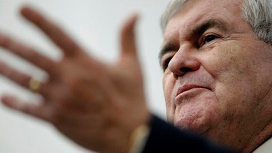 Dec. 14, 2011: Former House Speaker Newt Gingrich speaks during a discussion at the University of Iowa College of Public Health in Iowa City, Iowa.