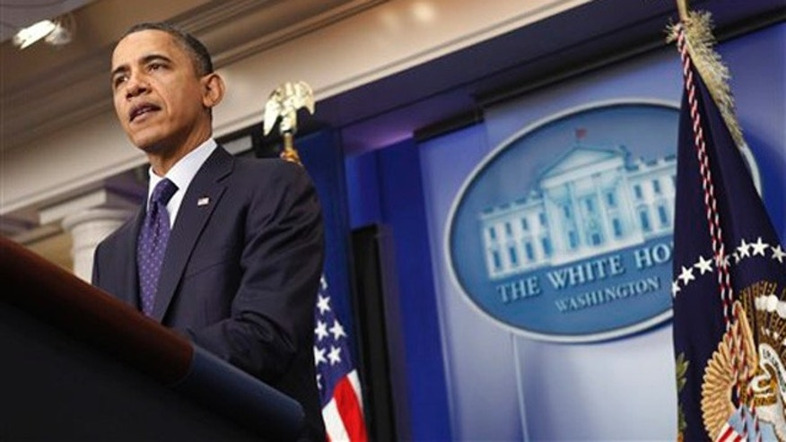 Dec. 23, 2011: President Obama speaks about the payroll tax cut at the White House in Washington.