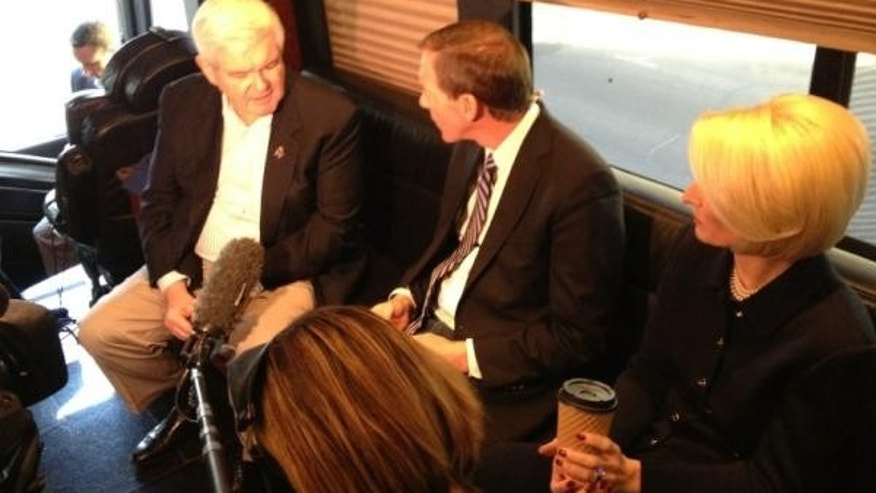 Newt Gingrich with Carl Cameron