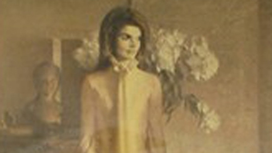 Jacqueline Kennedy's official White House portrait.