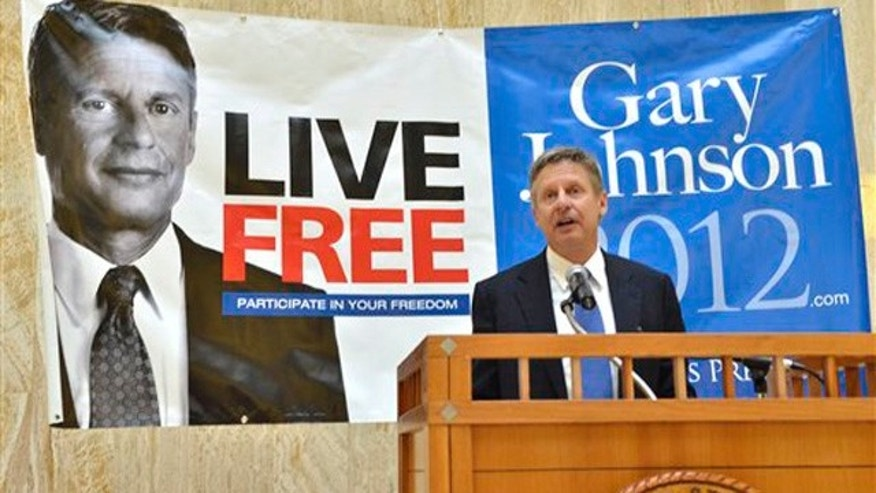Dec. 28, 2011: Former New Mexico Gov. Gary Johnson announces his bid for the Libertarian Party nomination for president in Santa Fe, N.M.