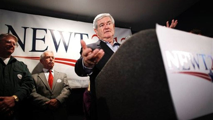 Dec. 31, 2011: Newt Gingrich campaigns at Tish's Restaurant in Council Bluffs, Iowa.