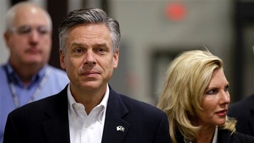 Jan. 5: Republican presidential candidate, former Utah Gov. Jon Huntsman and his wife Mary Kaye tour the Goss International plant in Durham, N.H.