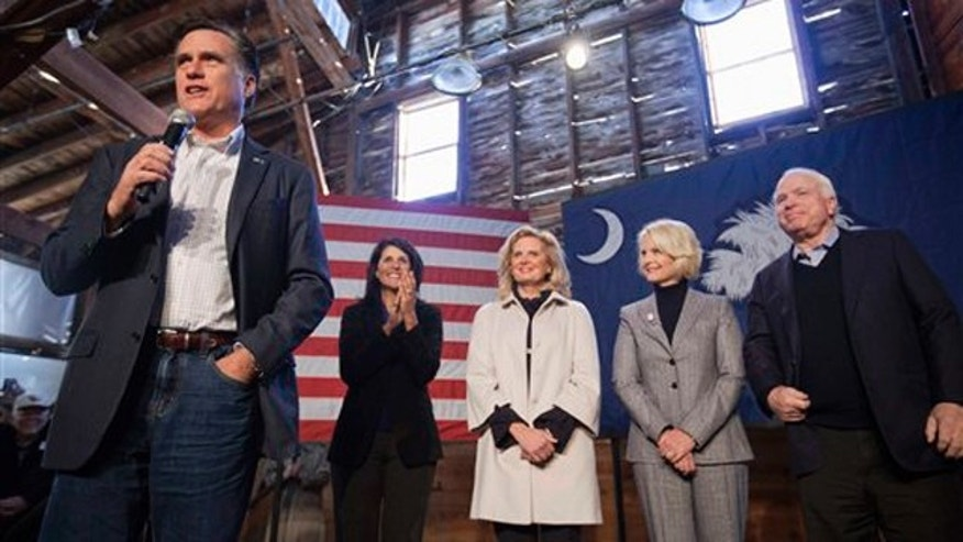 Jan. 6, 2012: Mitt Romney speaks at a campaign event in Conway, S.C.