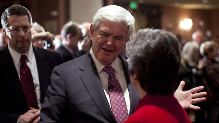 January 5, 2012: Republican presidential candidate former House Speaker Newt Gingrich arrives for a campaign stop in Meredith, N.H.