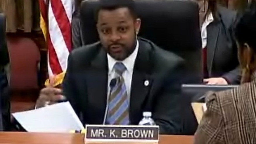 Jan. 4, 2012: D.C. Council Chairman Kwame Brown speaks at a council meeting in Washington, D.C.
