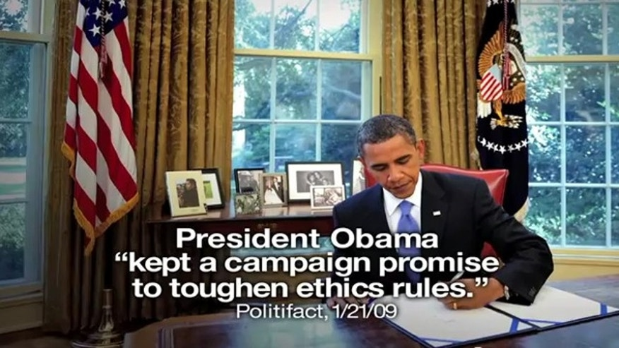 This image is taken from an ad released by President Obama's re-election campaign, which plans to air it this week in several swing states.