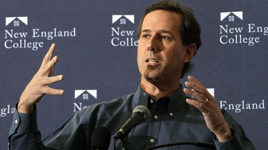 January 5, 2012: Republican presidential candidate former Pennsylvania Sen. Rick Santorum speaks during a campaign stop with college students.