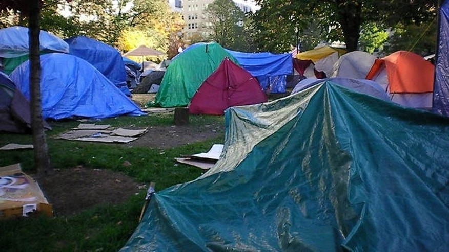 Nov. 24, 2011: Occupy D.C. protesters' tents at McPherson Square park in Washington, D.C.
