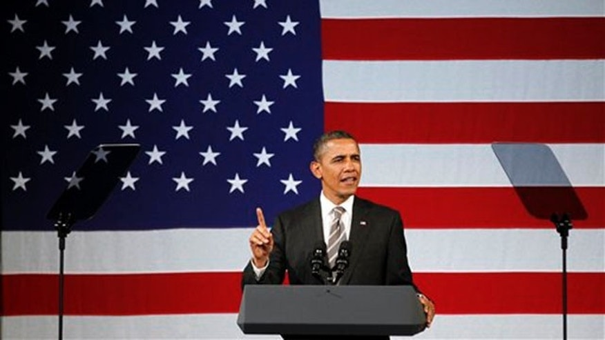 Jan. 19, 2012: President Obama speaks at a campaign event at the Apollo Theatre in Harlem.