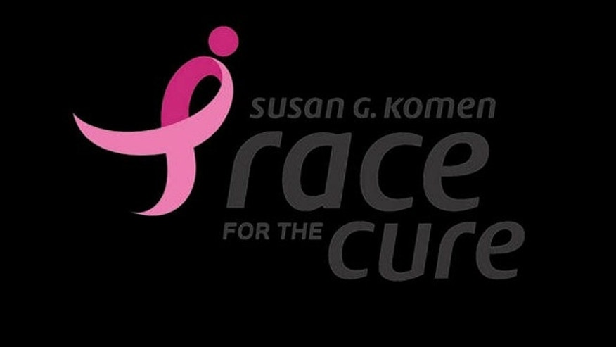 The logo for Susan G. Komen's Race for the Cure to raise awareness for the fight against breast cancer