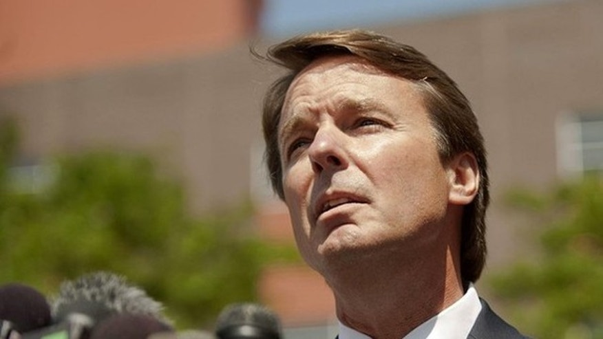 June 3, 2011: John Edwards makes a brief statement to the press outside of the U.S. District Court after pleading not guilty to six federal criminal felony charges in Winston-Salem, North Carolina.
