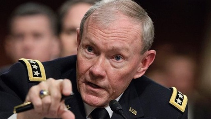 Feb. 14, 2012: Joint Chiefs Chairman Gen. Martin Dempsey testifies on Capitol Hill in Washington.