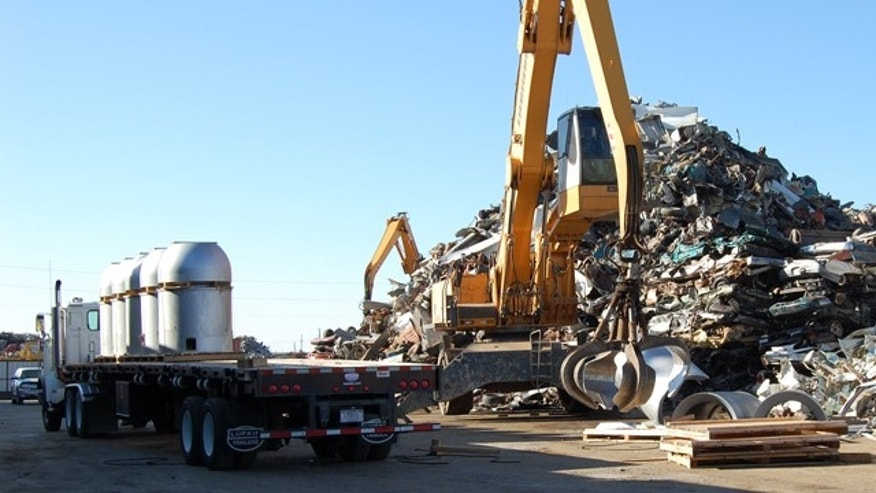 October 25, 2011: Parts of a B53 nuclear bomb are pictured prior to shredding at the B&W Pantex nuclear weapons storage facility outside Amarillo, Texas, in this handout photograph.