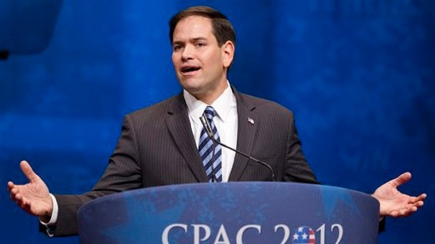 Feb. 9, 2012: Sen. Marco Rubio addresses the Conservative Political Action Conference in Washington, D.C.
