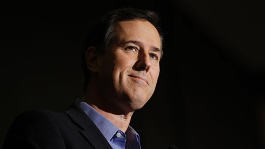 Feb. 18, 2012: Rick Santorum speaks at the Ohio Christian Alliance conference in Columbus.