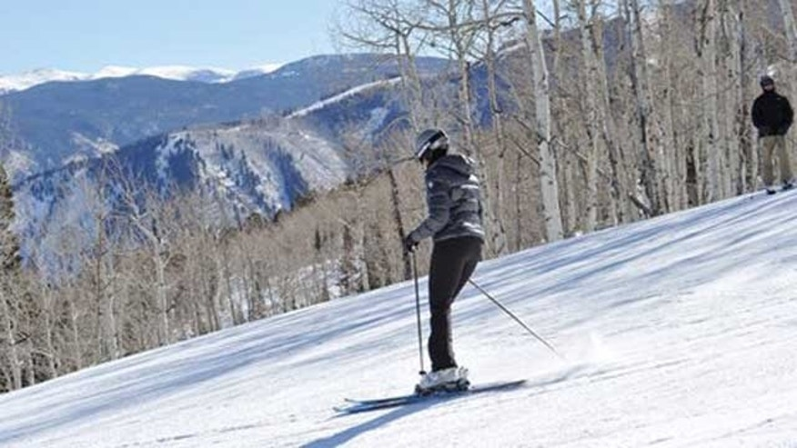 Feb. 18, 2012: First lady Michelle Obama skis at Buttermilk ski area in Aspen.