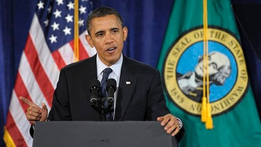Feb. 17, 2012: President Obama speaks in Bellevue, Wash.