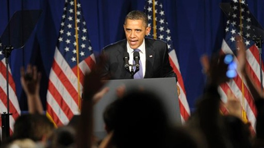 March, 1, 2012: President Obama speaks at a fundraiser in New York City.