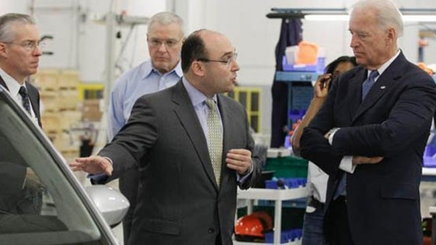 January 26, 2011: Vice President Joe Biden tours Ener1 in Greenfield, Ind.