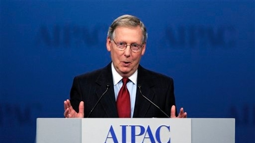 Mar. 5, 2012: Senate Minority Leader Mitch McConnell, R-Ky., addresses the American Israel Public Affairs Committee.
