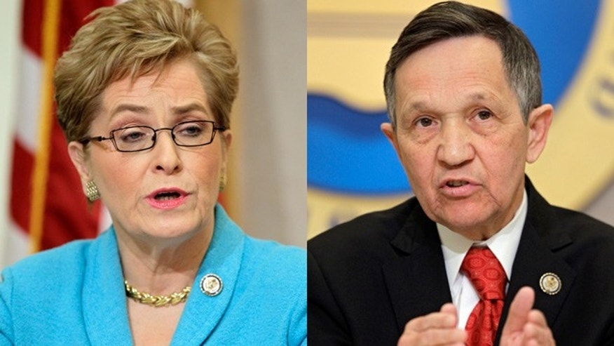 Democratic Ohio Reps. Marcy Kaptur and Dennis Kucinich were forced into a primary after redistricting cost Ohio two congressional seats.