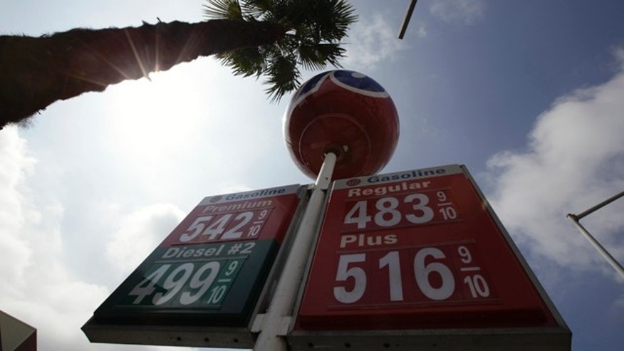 Gas prices in Beverly Hills, Calif., earlier this month.