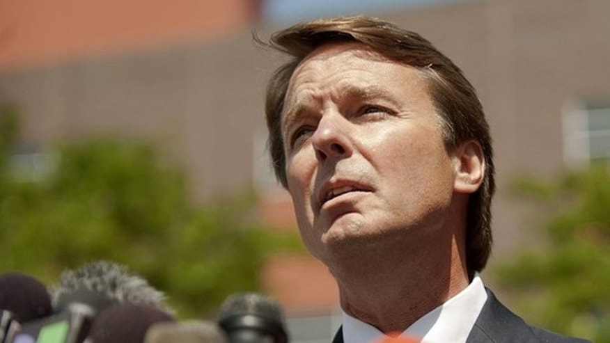 June 3, 2011: John Edwards speaks to reporters outside the U.S. District Court in Winston-Salem, N.C.