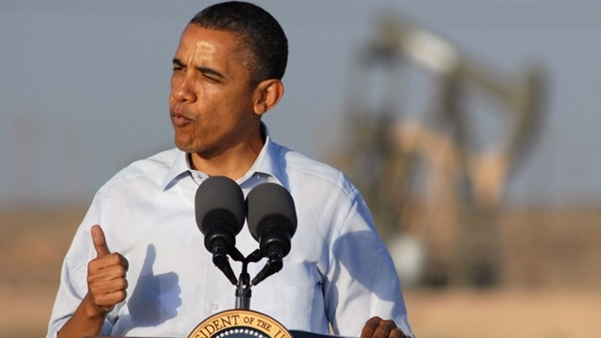 March 21, 2012: President Obama discusses his oil and gas policies during a visit to a drilling site in Maljamar, N.M.