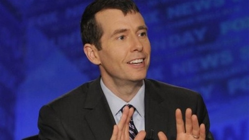 In this April 10, 2011 file photo, White House senior adviser David Plouffe talks on 'Fox News Sunday.'