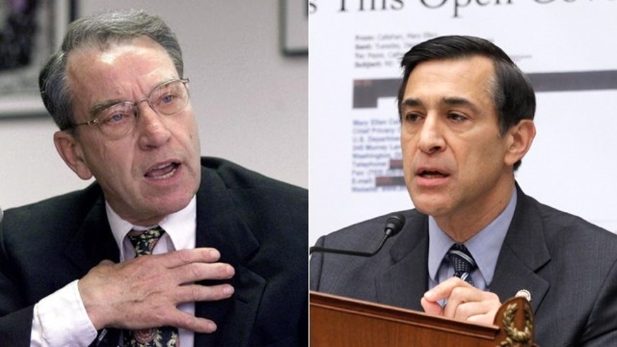 Sen. Charles Grassley, left, and Rep. Darrell Issa